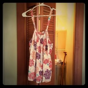"Tommy Bahama ""Relax"" line pretty floral tank, XL"
